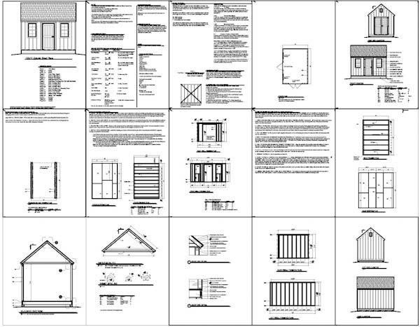 Damis 8 X 16 Storage Shed Plans