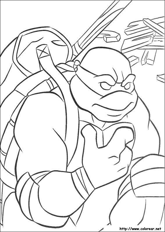 Dibujos De Las Tortugas Ninja Turtles Para Colorear En Colorearnet