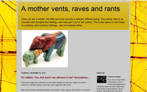 A mother vents, raves and rants