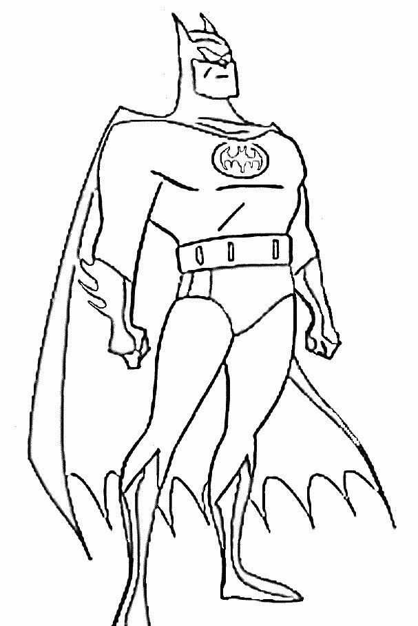 Batman Boyama Sayfasi 15 Okul öncesi Etkinlik Faliyetleri