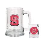 Non Metal Collegiate North Carolina State University Shot Glass And Mug Set (Length=8.69) (Width=3.75) Gc1963