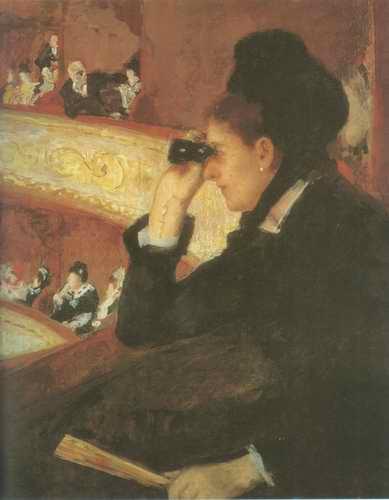 In the Loge Mary Cassatt