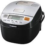 Zojirushi - Micom 0.5-Quart Rice Cooker - Silver/black