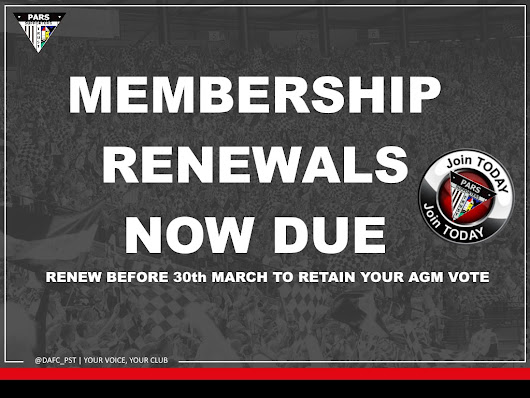 Now there are even more reasons to renew your membership of the PST in 2017 - Pars Supporters Trust