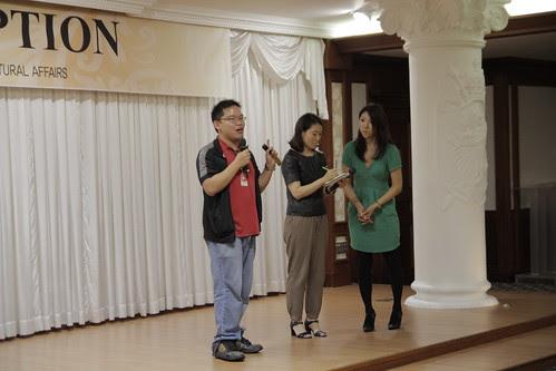 Me, talking at the Japan Reception