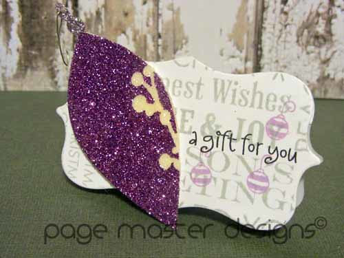 ornament card purple
