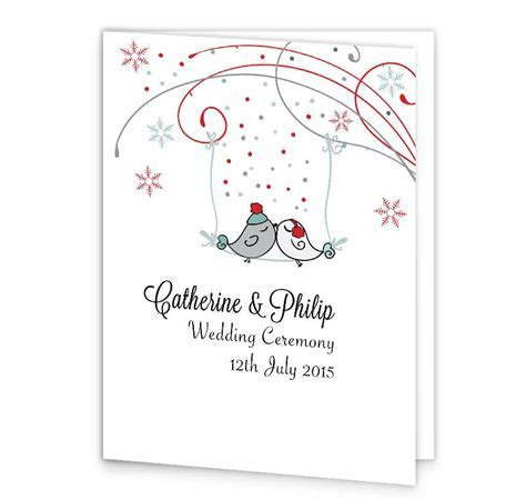 Winter Romance Wedding Mass Booklet Cover   Loving Invitations