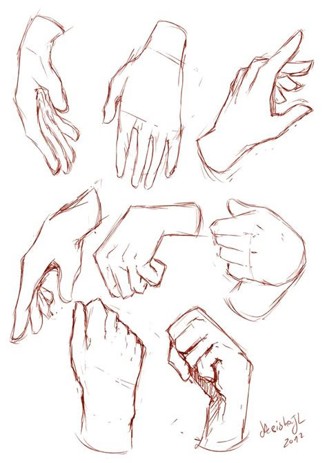 hands sketches  keishajl  deviantart