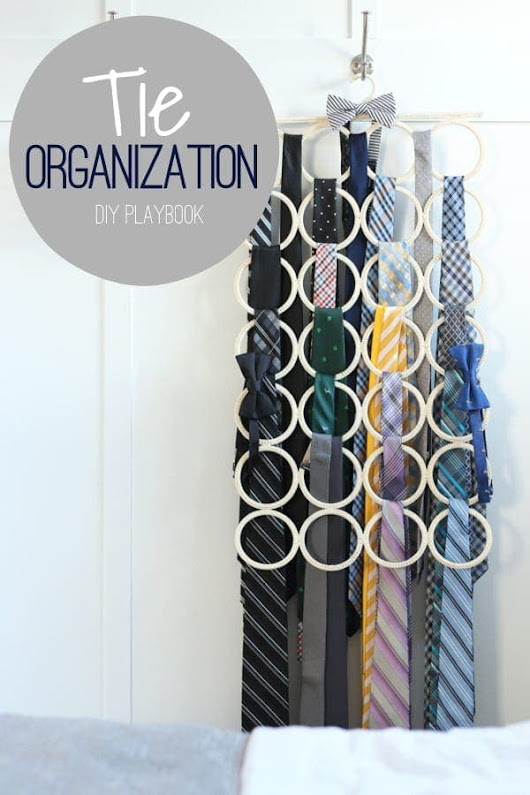 Easy Tie Organization - DIY Playbook