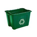 Rubbermaid FG571473GRN Waste Recycling Bin - Plastic - Green
