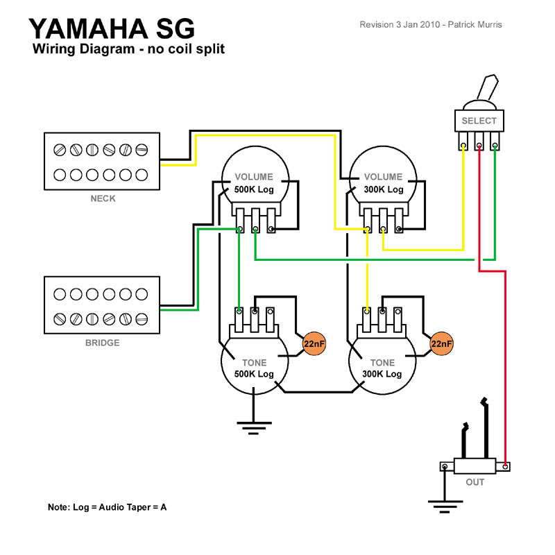 Yamaha Eg112c Wiring Diagram