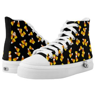 Halloween candy corn pieces printed shoes