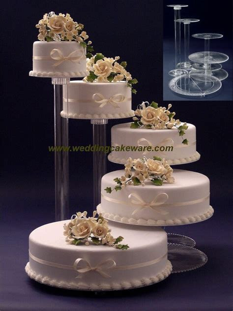 5 TIER CASCADING WEDDING CAKE STAND STANDS SET   eBay