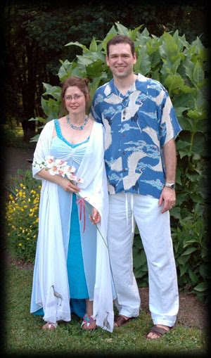 John and his wife Beth at their wedding