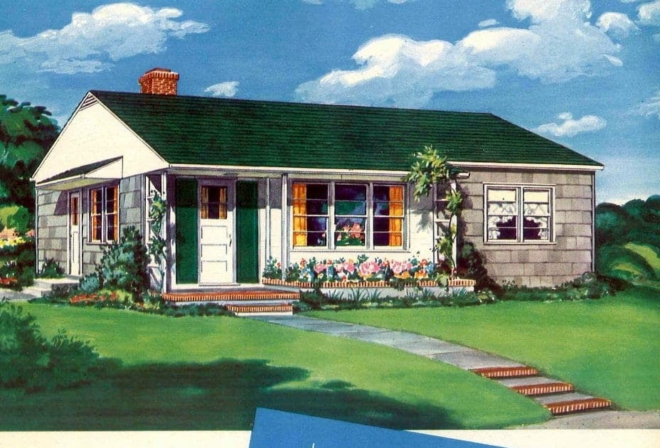 1950s Suburban Home Exterior | Home Exterior  1950s Suburban Homes
