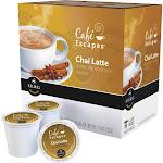 Caf Escapes Chai Latte, Keurig K-Cup Pods, Contains Milk, 16ct, Size: 7.8 fl oz
