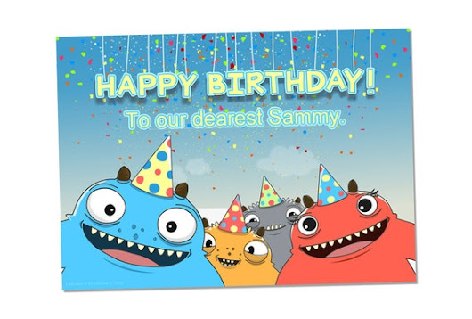 Digital Monster Birthday Package  Treat Bag by ThinkHappyIdeas