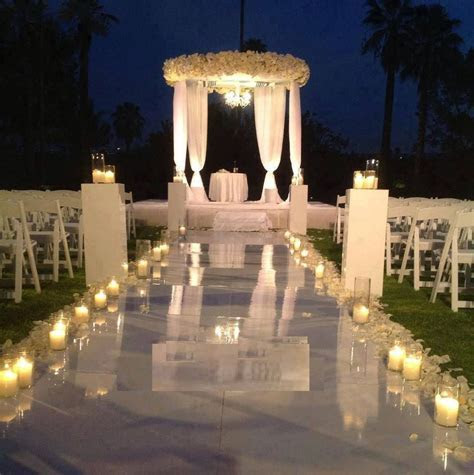 Absolutely beautiful night ceremony!   Wedding   Pinterest
