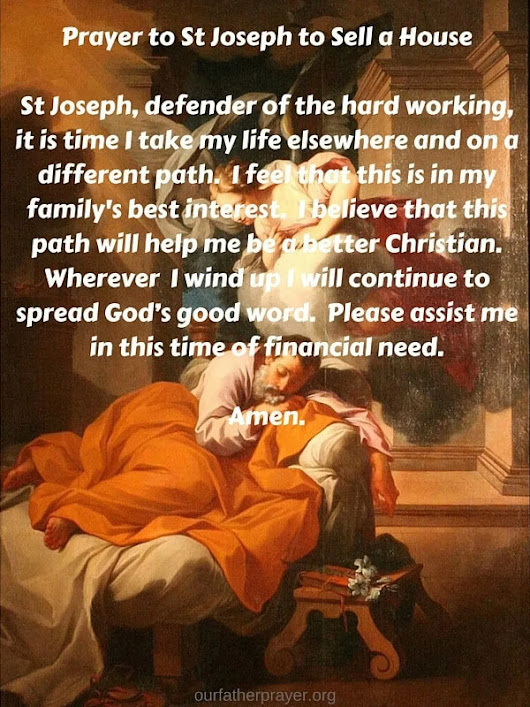 Prayer to St Joseph to Sell a House - Our Father Prayer