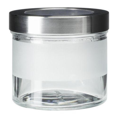 DROPPAR Contenitore con tappo IKEA Il barattolo trasparente ti permette di trovare facilmente quello che cerchi.