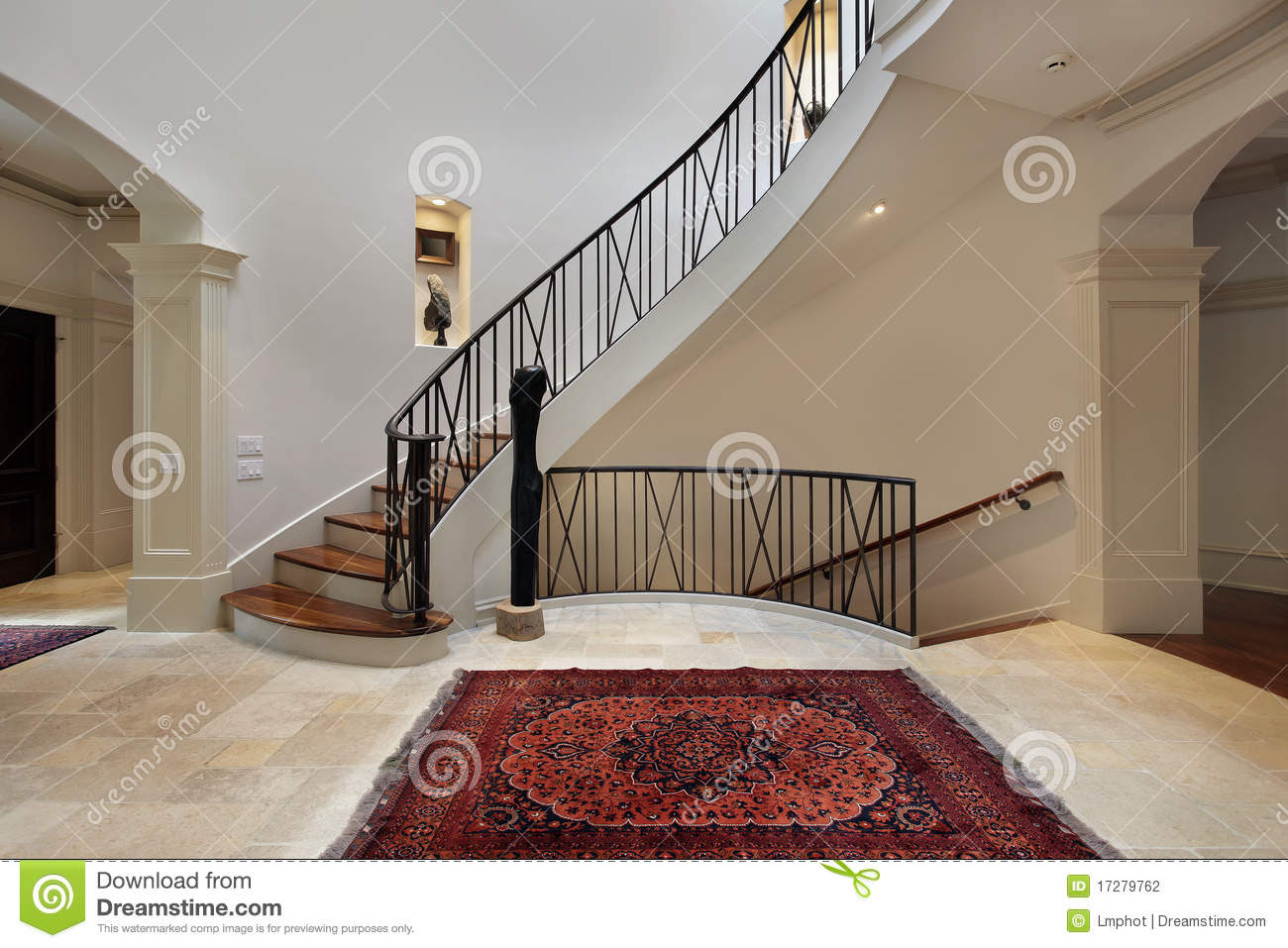 Large Foyer With Circular Staircase Stock Photography - Image ...