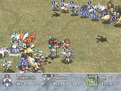 Playstation brigandine: grand edition (gameplay with english.