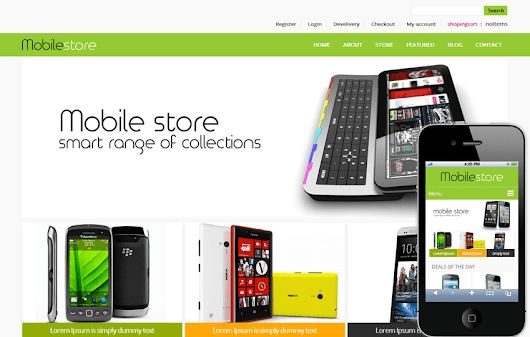 Mobile Store E-commerce Shopping cart Mobile website Template by w3layouts