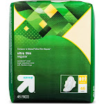 Ultra Thin Regular Pads with Wings - 46ct - Up&Up