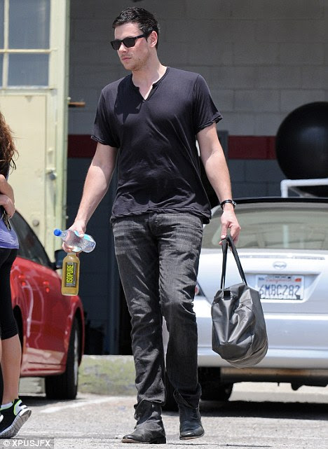 new couple lea michele and cory monteith are working out