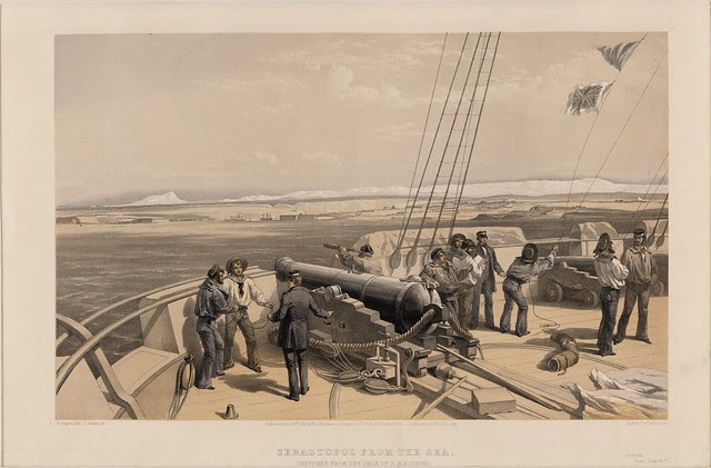 Sebastopol from the sea - sketched from the deck of H.M.S. Sidon