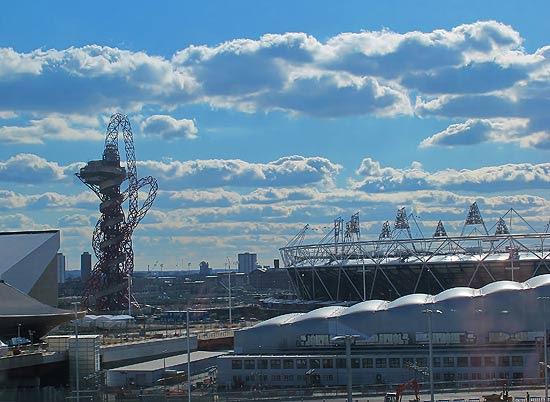 Vista do estádio olímpico de Londres