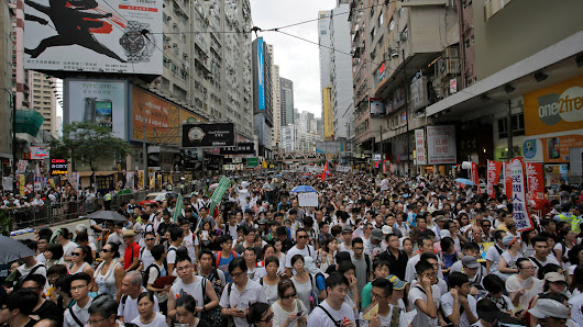 Huge Crowds Turn Out for Hong Kong Pro-Democracy March