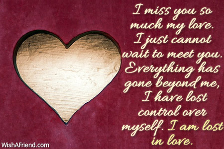 I Miss You So Much My Love Message For Wife