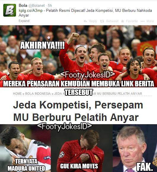 Ekspresi fans MU -  Football Jokes Indonesia: Ekspresi fans MU