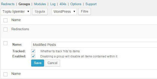 Wordpress 301 Yönlendirme (Redirection) | WPMAVI