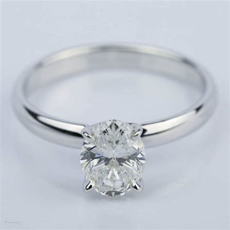 classic solitaire engagement ring  oval diamond  ct