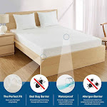 """Fitted 6 Gauge Vinyl Mattress Cover, Cal King 16"""""""