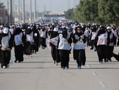 Saudi Arabia holds first marathon for women