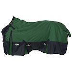 Tough-1 Extreme 1680D Waterproof Poly Turnout Blanket 75inch, Hunter Green