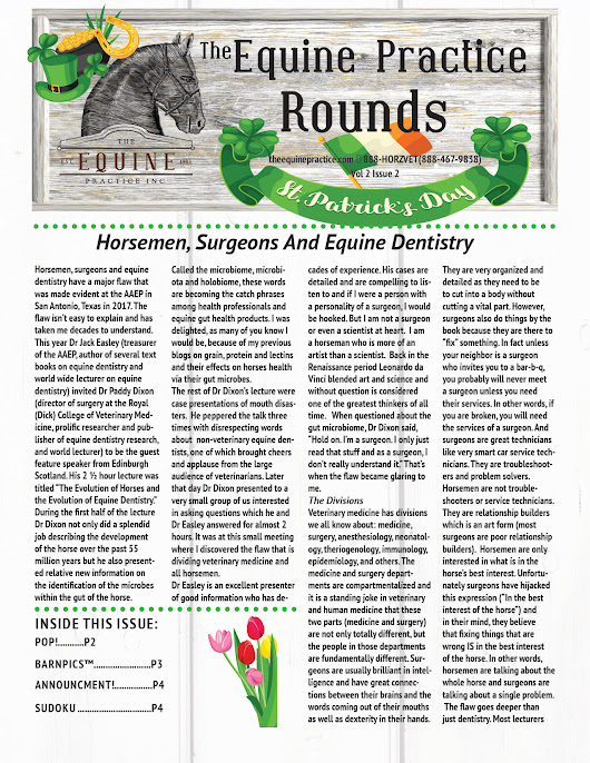 The Equine Practice Rounds™ March 2018
