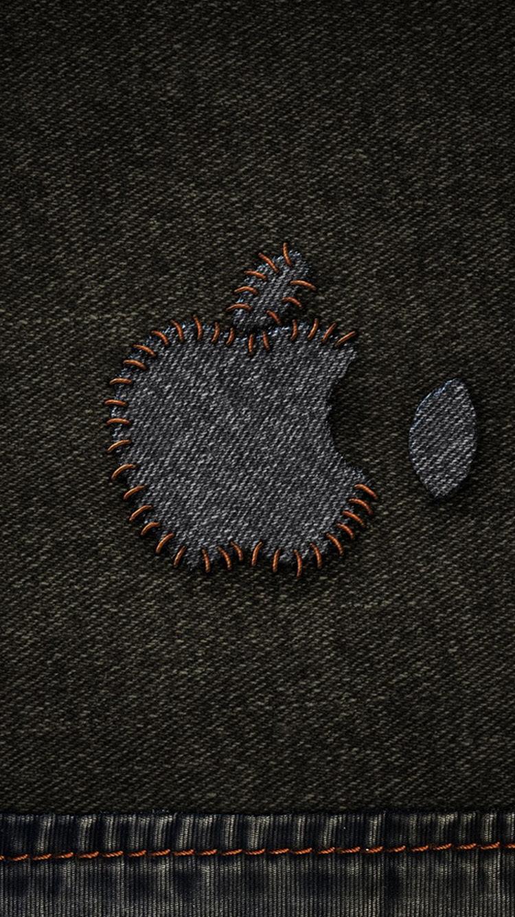 アップルデニムステッチロゴiphone6壁紙 Iphoneチーズ