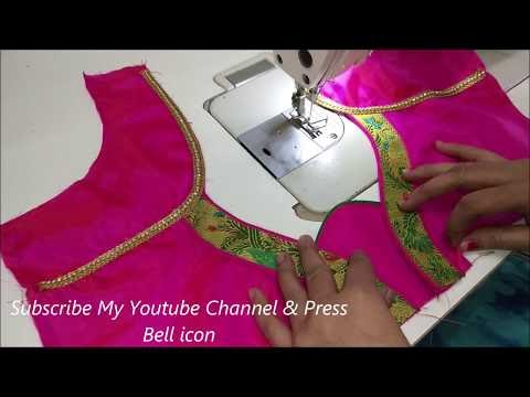 How to Make A beautiful back neck design of blouse  in 2020