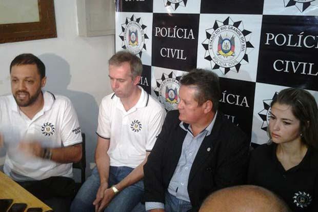Delegado Marcelo Arigoni detalha o trabalho da Polícia Civil na tragédia de Santa Maria. Foto: PCRS/Divulgação
