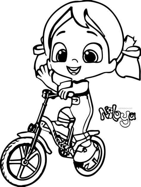 niloya bisiklet kullaniyor boyama sayfasi
