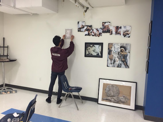 "BSW on Twitter: ""The artist hanging his work for the show tonight. #finalstage #IBart """