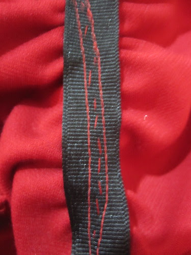 3 Rows of Stitching on Ribbon