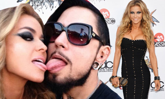 Carmen Electra touches tongues with ex-husband Dave Navarro in LA