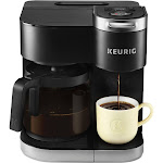 Keurig - K-Duo 12-Cup Coffee Maker and Single Serve K-Cup Brewer - Black