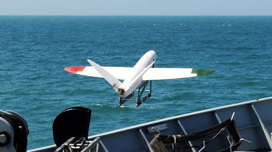 3D-printed plane flies from Royal Navy ship - BBC News