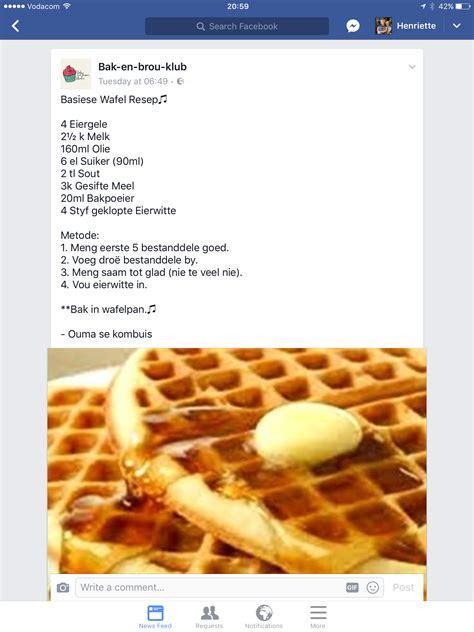 basiese wafel resep pancakes crepes waffles french